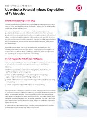 UL evaluates Potential Induced Degradationof PV Modules